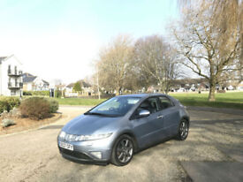 2007/07 Honda Civic 2.2i-CTDi EX 5 Door Hatchback Blue