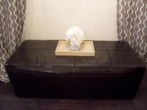 Stylish LARGE Expresso Ottoman/Coffee Table for sale