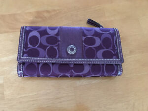 """Coach"" Wallet (purple) - great condition - only $30"
