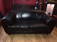 BROWN LEATHER SOFA. 2.5 SEATER. Immaculate condition.
