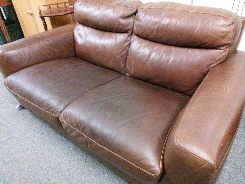 Two Seater Sofitalia Leather Sofa In