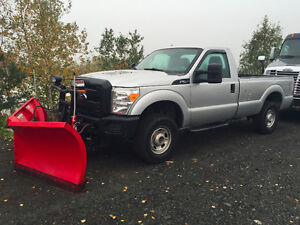 2011 Ford F-250 Regular Cab With Boss V-Blade! Low Kms