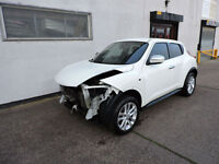 62 Nissan Juke 1.6 16v Acenta Sport Damaged Salvage Repairable Cat D
