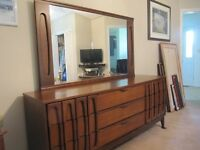 9 drawer Ladies Dresser with mirror