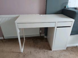 White ikea desk