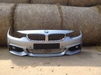 BMW 4 SERIES F32 F33 F36 M SPORT FRONT BUMPER COMPLETE WITH H/L/W PDC