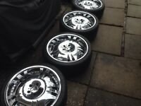 20 Inch Chrome Mercedes Benz Firelli wheels & low pro tires