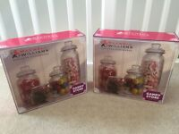 Brand new unused glass candy jars for sweetie table candy buffet weddings parties or baby showers
