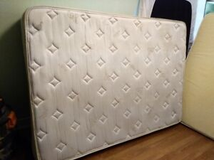 delivery included- 2yr old double pillowtop mattress and boxspr