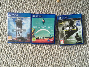 3 PS4 Games; price for all 3