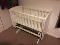 White rocking crib x2