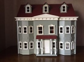 Magnificent large dolls house and furniture never played with