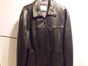 Manteau cuir homme