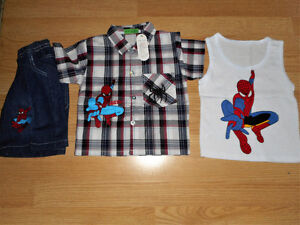 Awesome Boys 3pc Spiderman Set!