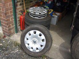 Golf wheel tyres & caps