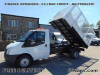 2007 07 FORD TRANSIT FULLY CAGED TIPPER, ONE OWNER, FSH, BEACONS, TOOL STORAGE
