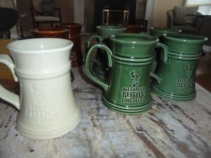 8 Keith's Beer Mugs