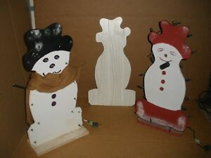 Lighted Wooden Snowmen for a DIY Project, Pattern Included London Ontario image 8