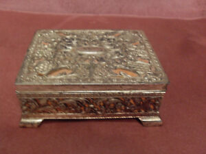 Pretty Vintage Collectable Silverplate Box Made in Japan