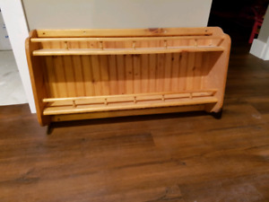 Wood shelf. 25.00 obo text for fast response