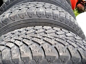 4 Goodyear Nordic winter tires on rims 195/70r14