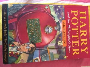 Harry porter and philosophers stone first edition
