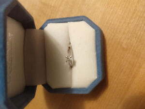 White Gold with Princess Cut Diamond Engagement Ring