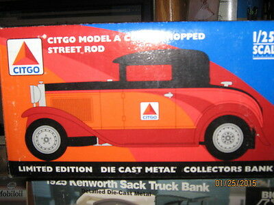 1997 CITGO Model A Coupe Chopped Street Rod Bank-FREE SHIPPING