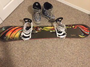 Burton Snowboard and Boots