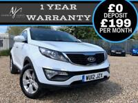 2012 WHITE KIA SPORTAGE 1.7CRDi SPORTAGE 2 ☆ FULL LEATHER INTERIOR ☆ LOW MILES!