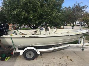 18 Feet Boat w/ Mercury 115 Outboard Motor + Handling Trailer