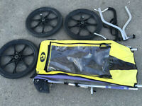 Chariot Cheetah W/jogging wheel,baby suport and bike attachment