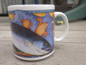 "Rare 1995 Limited Edition Shannon Cartwright ""King Salmon"" Cup"