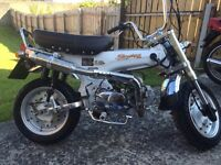 Road legal 125 monkey bike, swap p/x for car