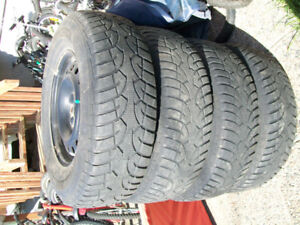 4xp235/75/16 snow                tires with 4 rims