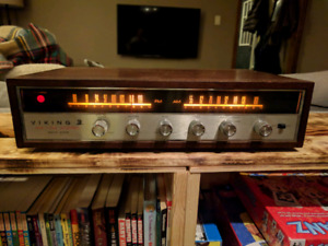 Viking am/fm vintage mid century receiver with aux and phono in
