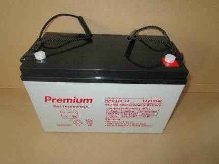 135AH 12V GEL Deep Cycle  Battery  for Solar, Camping. 2Year WTY*