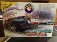 Lionel New York Central Flyer Train Set with extra Fastrack