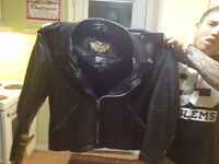 Bearley used XXL leather harley davidson jacket paid 600