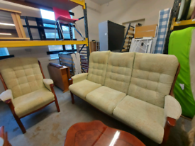 Ercol style 3 Seater Sofa and Armchair