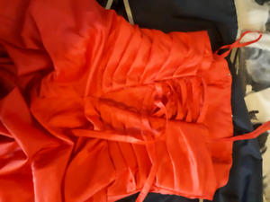 Size 15/16 lace up red prom dress