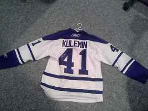 Leafs signed Kulimen signed mens lg Kitchener / Waterloo Kitchener Area image 1
