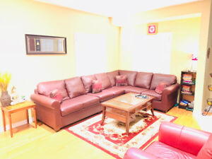Sectional Sofa (Cherry Coloured) For Sale
