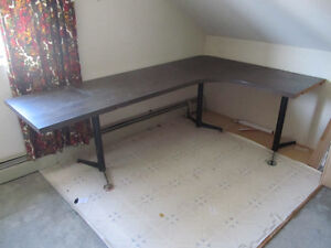 Large L-shaped work table