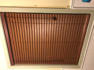 Cherry Wood Faux Blinds