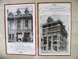 Vintage Print Nicely Framed London Ontario Ephemera London Ontario image 2
