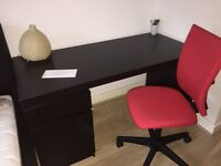 IKEA Malm Desk in Black/Brown