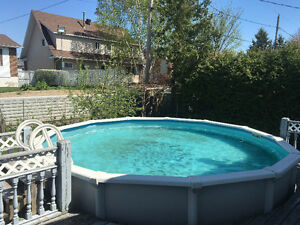 21 foot above ground swimming pool, salt system & accessories.