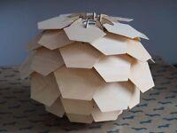 Wooden Artichoke Pendant Light shade