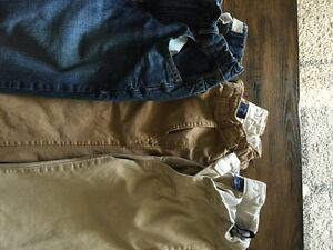 Boys Pants (4 pairs khakis and 1 pair jeans)